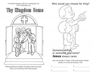 Takehome sheet about prayer