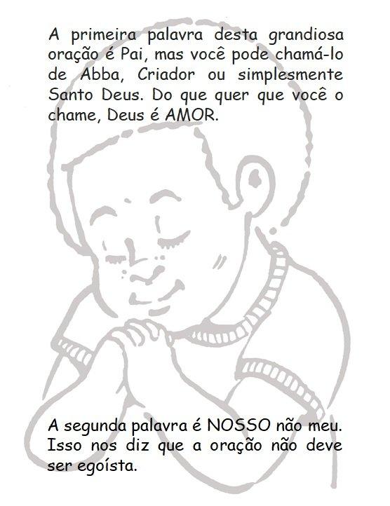 Prière du Seigneur à colorier pour les enfants