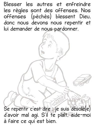 Prière du Seigneur à colorier pour les enfants en francais