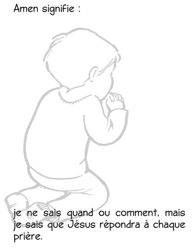 kids prayer activities in french