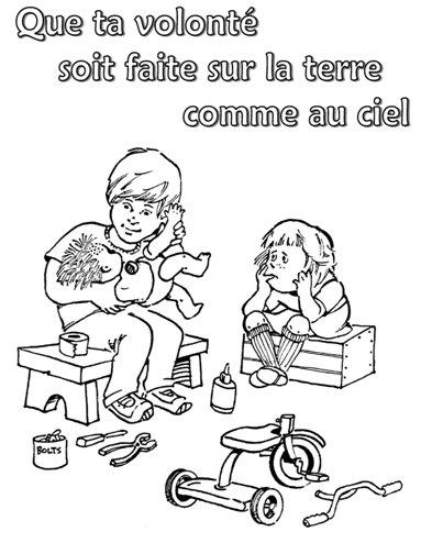 Lord's prayer for Kids Francais