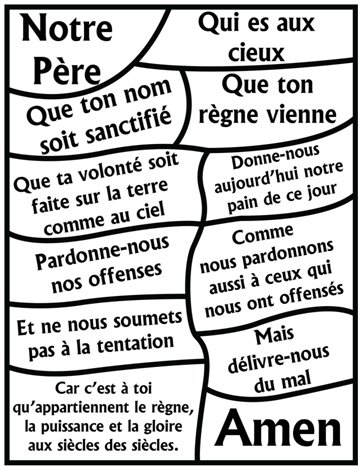 Children's prayer lessons in french