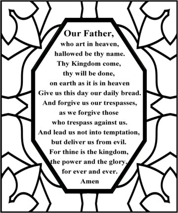 picture regarding The Lord's Prayer Kjv Printable called The Lords prayer for young children\u003cbr /\u003e Supporting youngsters master