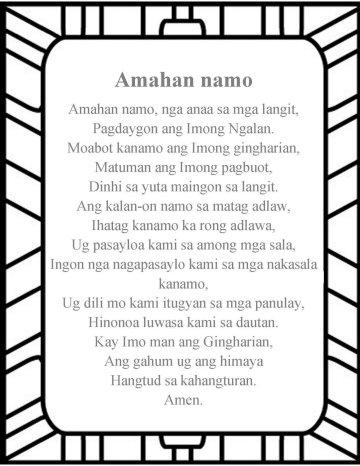 The Lord's prayer Cebuano