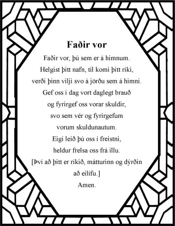 The Lord's prayer in Icelandic