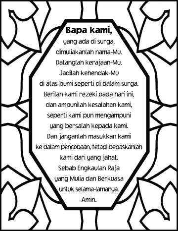 The Lord's prayer Bahasa