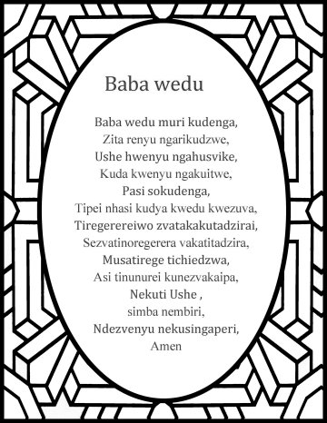 The Lord's prayer in shona