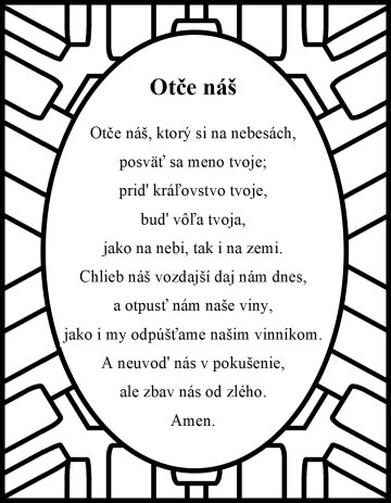 The Lord's prayer in Slovakian