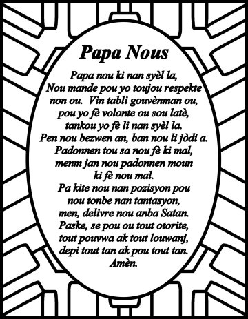The Lord's prayer Creole