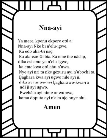 The Lord's prayer in Igbo Nna-ayi