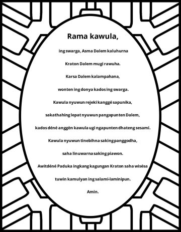 The Lord's prayer javanese