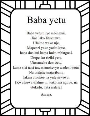 <b>Baba yetu</b>