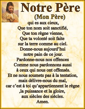 The Lord's prayer French