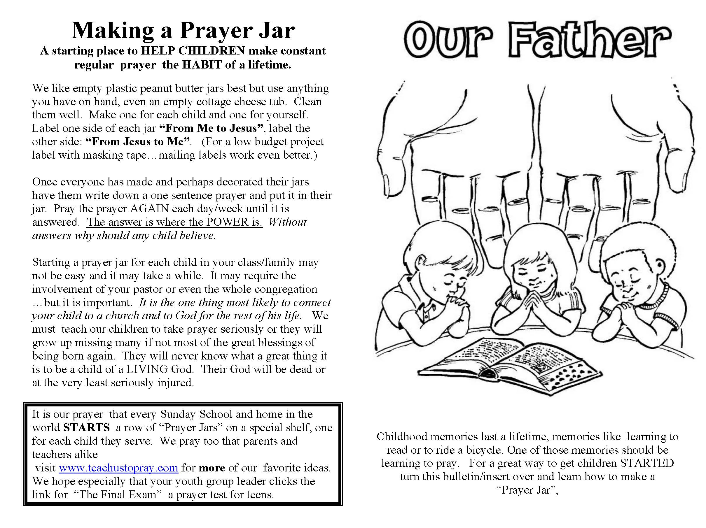 Lord S Prayer For Kids Free Lord S Prayer Coloring Pages For Children