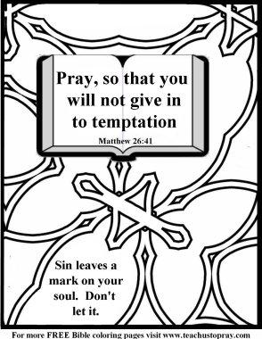Pray to avoid temptation