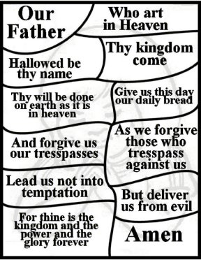 graphic relating to The Lord's Prayer Coloring Pages Printable called Lords Prayer bulletin insers. Absolutely free printable coloring internet pages